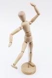 在舞蹈姿势的一个木时装模特 免版税库存照片
