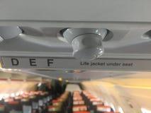 在航空器的位子 免版税库存照片