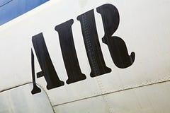 在航空器的空气标签 库存照片