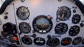 在航空器视图上的控制板 影视素材
