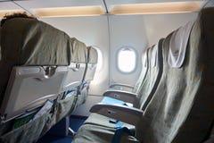 在航空器里面 免版税库存图片