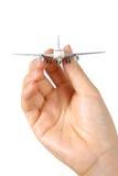 在航空波音云彩旅行翼之上 库存图片