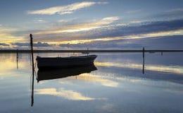 在舰队盐水湖的小船 免版税库存照片