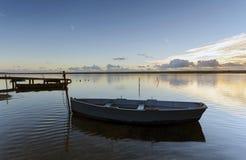 在舰队盐水湖的小船 库存图片