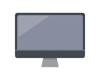 在舱内甲板的灰色计算机显示器 图库摄影