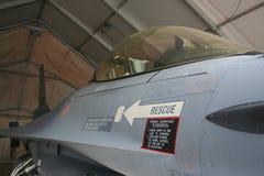 在舷梯的荷兰F-16在阿富汗 库存照片