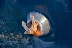 在船上的大船锚 免版税库存照片