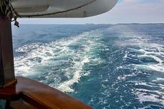 在船后 免版税图库摄影