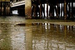 在船坞下 图库摄影