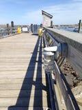 在船坞的光 免版税库存图片