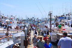 在船坞的天在洛马角,加利福尼亚2015年 免版税库存图片