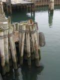 在船坞的打桩 库存图片