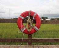 在船坞的救护设备 图库摄影