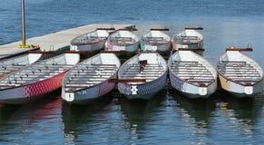 在船坞的龙小船 库存照片