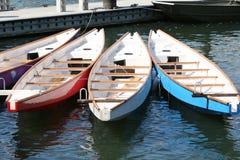 在船坞的龙小船 库存图片