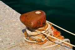 在船坞的绳索 库存照片