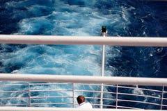 在船尾的视图 图库摄影