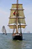 在船尾的风船 库存图片