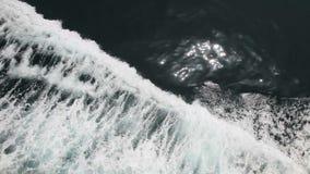 在船的弓的波浪 股票视频