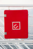在船的消防栓信号 库存图片