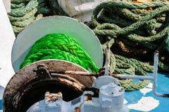 在船的绳索 免版税图库摄影