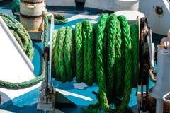 在船的绳索 免版税库存照片