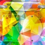 在色的三角多角形backgrou的透明度板材 库存例证