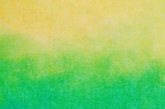 在艺术帆布backgro绘的黄色和绿色抽象纹理 免版税库存图片