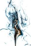 在艺术性白色的背景的抽象Colorfull烟 免版税库存图片