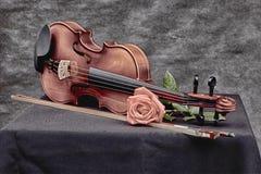 在艺术性的心情的小提琴 免版税库存照片