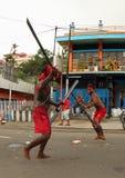 在艺术的Cakalele舞蹈和文化节日2017年 库存图片