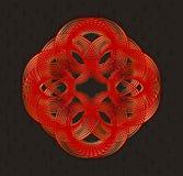 在艺术nouveau样式的几何设计元素 免版税库存照片