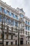 在艺术Nouveau样式的大厦,里加 库存图片