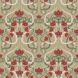在艺术nouveau样式,传染媒介的花卉无缝的样式 库存图片