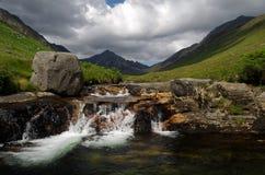 在艾伦,苏格兰的幽谷罗莎 免版税库存照片