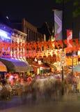 在艾恩德霍芬,荷兰拥挤集会,夜生活 免版税库存图片