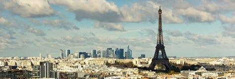 在艾菲尔铁塔的看法 图库摄影