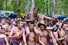 在节日的西班牙青年时期 库存图片