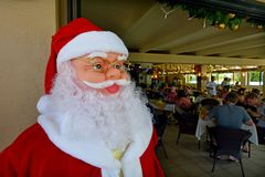 在节礼日的圣诞老人玩偶 免版税库存照片