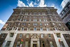 在芒特弗农,巴尔的摩,马里兰的美丽的石大厦 库存图片
