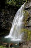 在芒特雷尼尔附近的瀑布 免版税库存图片