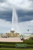 在芝加哥公园distri的克拉伦斯白金汉纪念喷泉 免版税图库摄影