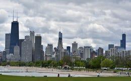 在芝加哥的暴风云 库存图片