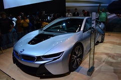 在芝加哥车展的BMW 2015年 免版税库存照片