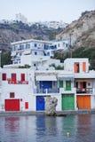 在芦粟海岛上的村庄在希腊 免版税图库摄影