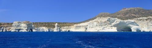 在芦粟海岛上的Kleftiko海湾 免版税库存照片