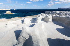 在芦粟海岛,希腊的矿物形成 图库摄影