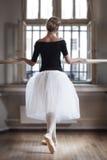 在芭蕾教室 免版税库存图片