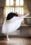 在芭蕾教室 免版税库存照片