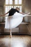 在芭蕾教室 免版税图库摄影